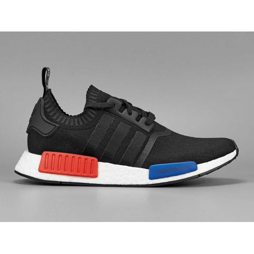 Cheap Authentic Adidas NMD_R1 Runner Primeknit PK Core Black men - Click Image to Close