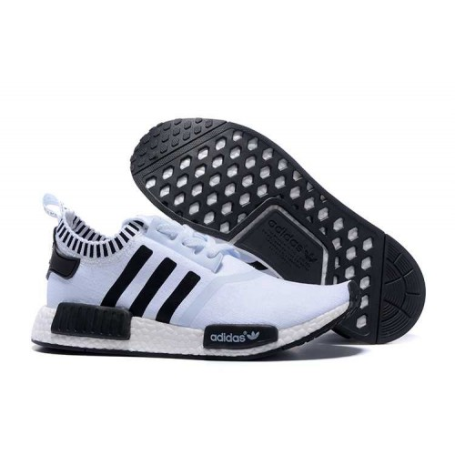 Discount Wholesale Adidas NMD_R1 Runner White Black men women