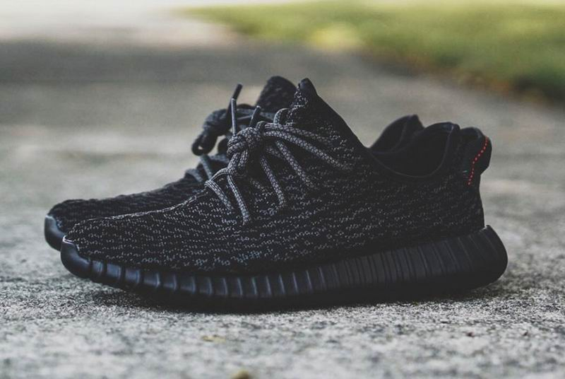 Adidas Yeezy 350 Boost Pirate Black Women's -Black-Midnight Fog