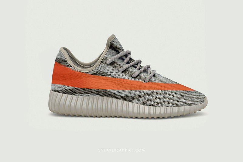 adidas Yeezy Season 3 350 Boost - Men's Agate Grey/Bright Orange