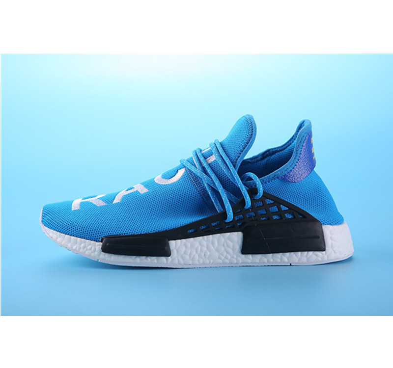 Pharrell Williams Shoes x Adidas NMD Human Race blue white