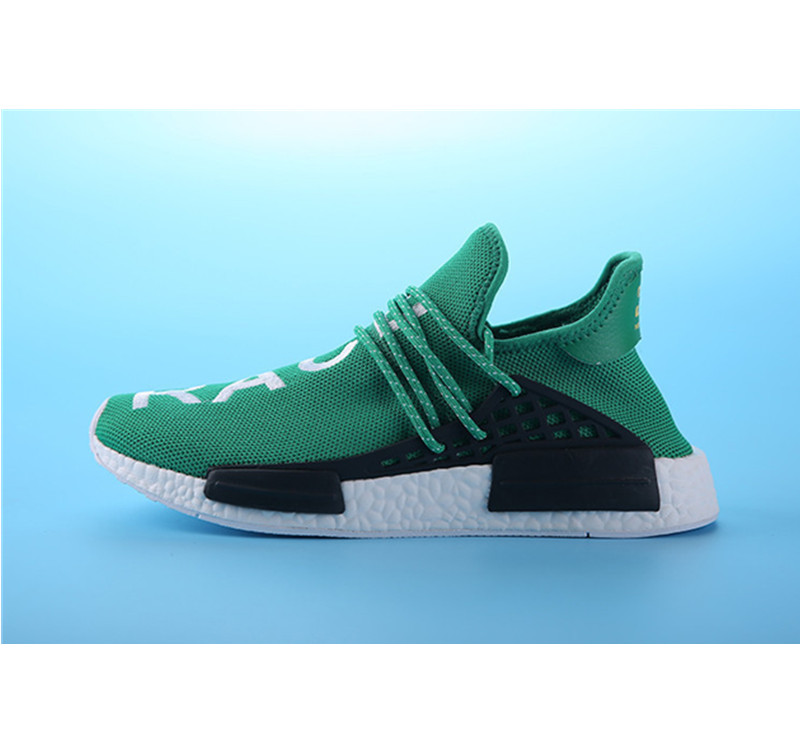 Pharrell Williams Shoes x Adidas NMD Human Race green white