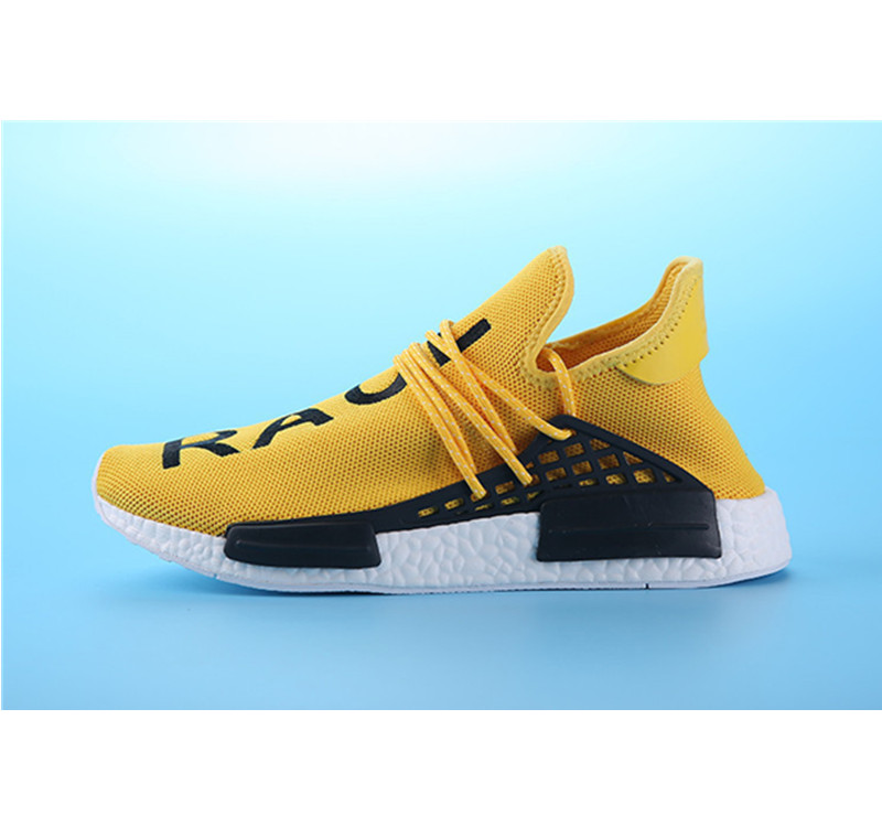 Pharrell Williams Shoes x Adidas NMD Human Race yellow white