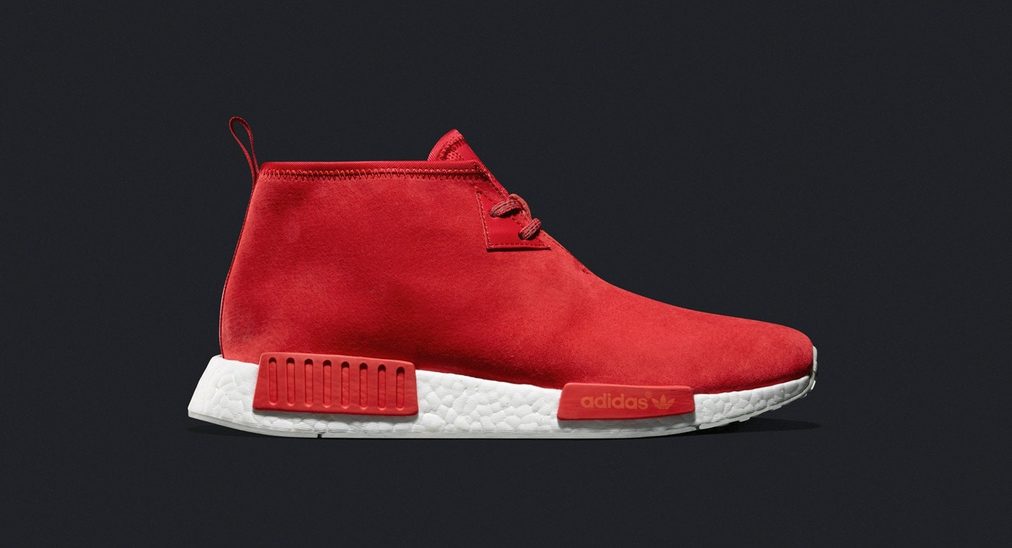 ADIDAS BOOST NMD_C1 CHUKKA LUSH RED SUEDE WHITE SZ S79147